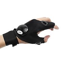 LED Light Finger Lighting Gloves Auto Repair Outdoors Flashing Artifact Black (right)