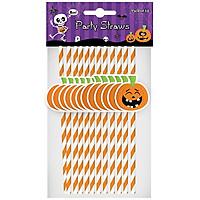 Ống Hút Giấy Bí Ngô 12 Cái - Đồ dùng tiệc Halloween UBL UH03005