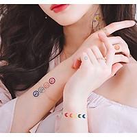 Set 30 Tờ Hình Xăm Dán Nghệ Thuật, Sticker Hình Xăm Tatoo Trẻ Trung HX1