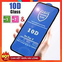 Kính cường lực 10D dành cho iPhone tặng kèm giấy lau màn hình