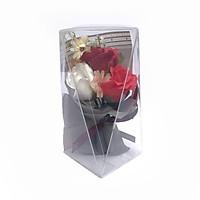 Hộp hoa sáp Valentine 3 bông kích thước 19x10x10cm