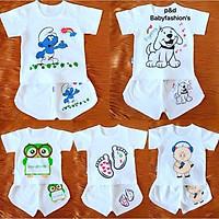 quần áo sơ sinh (combo 5 bộ quần áo trẻ em như hình)