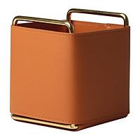 Storage Box Holders Organizer Box Leather Iron Storage Box Desktop Storage Box Multi-functional Desk Organize Single