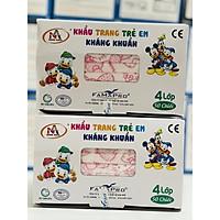 Combo 2 Hộp Khẩu trang trẻ em kháng khuẩn Famapro (Hộp 50 cái - Màu Hồng Kitty)