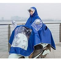 Áo mưa vải dù có kính che mặt dành cho nữ- Màu xanh dương