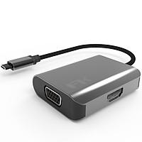 HUB Chuyển Đổi USB Type C Sang HDMI / VGA Display 2 in 1 Feeltek - Hàng Chính Hãng