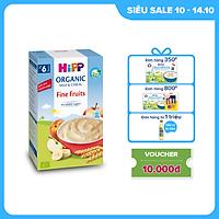 Bột ăn dặm dinh dưỡng Sữa, Hoa quả tổng hợp - Táo, Chuối, Lê, Mơ HiPP Organic 250g