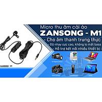 Micro thu âm cài áo Zansong M1 - Mic thu âm cài áo cho điện thoại, máy ảnh, máy quay - Livestream, thuyết trình, trợ giảng - Hàng chính hãng