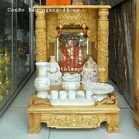 COMBO bộ bàn thờ thần tài ông địa gỗ xoan ngang 48 cm rất đẹp