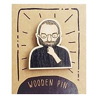 Huy Hiệu Cài Áo Gỗ Steve Jobs PS015