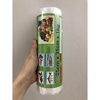 Túi đựng thực phẩm HDPE tự hủy sinh học An Lành dạng cuộn 1kg (25cmx35cm) tặng kẹp túi thực phẩm tiện lợi màu ngẫu nhiên - Hình thật thực tế SP