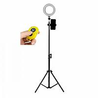 Đèn livestream đường kính 16cm tặng kèm remote chụp hình bluetooth