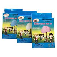 Combo 3 Hộp Khẩu Trang Y Tế 3 Lớp Trẻ Em Famapro 5D Baby Trơn : Xanh + Trắng + Hồng (10 Cái / Hộp)