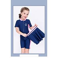 Bộ bơi cộc liền kèm chân váy cho bé (2-14 tuổi)
