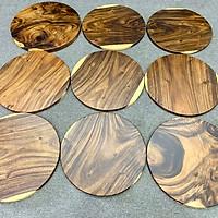 Mặt bàn tròn cafe gỗ me tây nguyên tấm da dạng kích thước