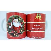 Cốc sứ uống trà cà phê in hình ông già Noel Merry Christmas