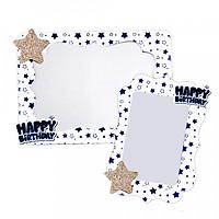 Combo 2 khung hình giấy để bàn ép kim ngôi sao