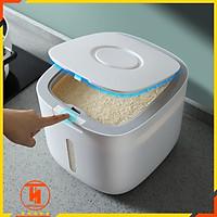 Thùng đựng gạo thông minh 10kg HT SYS - COCO - E2005, thiết kế dạng nhấn nút, chất liệu ABS cao cấp (giao màu ngẫu nhiên)