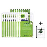 Hộp 10 Mặt nạ dưỡng da giảm mụn chiết xuất tràm trà Mediheal Teatree Solution Essential Mask Ex 25ml x10 + Tặng 1 gói sữa rửa mặt thải độc Vegitoks mini 3ml