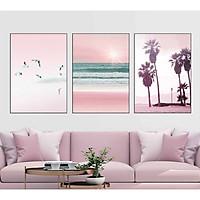 Set 3 tranh canvas phong cảnh trang trí nội thất 30x40cm DC0139