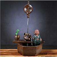 Thác Nước Phong Thủy Chú Tiểu Thiền Bên Suối Bình Trà