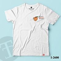 ATN-2600 Áo Thun Nữ Tay Ngắn In Logo You are got a peach of my heart