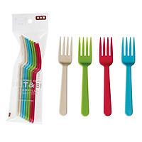 Nĩa Nhựa Màu 8P 887 Nhật Bản (8 Chiếc)
