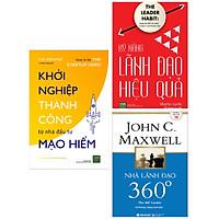 Combo Tuyệt Chiêu Lãnh Đạo, Quản Lý Hiệu Qủa: Nhà Lãnh Đạo 360°+ Kỹ Năng Lãnh Đạo Hiệu Quả + Khởi Nghiệp Thành Công Từ Nhà Đầu Tư Mạo Hiểm (Bộ 3 Cuốn Kỹ Năng Lãnh Đạo Hay Nhất 2019 / Tặng Kèm Bookmark Happy Life)