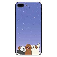 Ốp in cho iPhone 7 Plus / 8 Plus mẫu  3 Chú Gấu C
