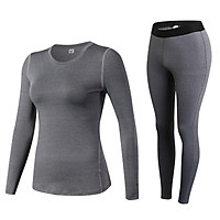 Quần áo thể thao NỮ dài tay 2in1 - 19D20, quần áo tập Yoga Gym cao cấp - POKI