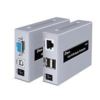 Bộ chuyển đổi VGA 60M qua cáp mạng Lan (điều khiển chuột USB) DTECH DT-7044D - Hàng Chính Hãng