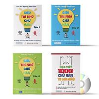Combo 4 sách: Siêu trí nhớ chữ Hán tập 01 + tập 02 + tập 03 + tập viết 1000 chữ Hán từ con số 0 và DVD Audio sách nghe