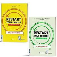 Sách - Combo 2 Cuốn Restart Your English - Yêu Lại Từ Đầu Tiếng Anh - Chủ Đề: More Expression & Traveling Abroad