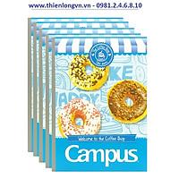 Lốc 5 quyển vở kẻ ngang 80 trang B5 Campus NB-BCOF80 màu xanh