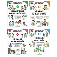 Combo Cẩm Nang Sinh Hoạt Bằng Tranh Cho Bé: Tập 1 + 2 + 3 + 4 (Tái Bản 2019) (Bộ 4 Tập)