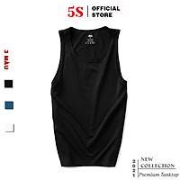 Áo Ba Lỗ Nam 5S (4 màu), Vải Cotton Mềm Mại,  Dáng Thể Thao, Thấm Hút Mồ Hôi, Co Giãn Cực Tốt (ABL21004)
