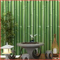 Giấy dán tường cây tre xanh khổ 45cm keo sẵn bóc dán, giấy decal giấy dán tường màu xanh lá cây dễ thương