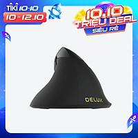 Chuột Quang Không Dây Bluetooth 4.0 Dạng Đứng Gắn Đèn RGB 2 Chế Độ Delux M618 Mini (2.4Ghz) - Xám