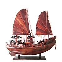 Mô hình thuyền gỗ trang trí Hạ Long Rồng - thân tàu 40cm - gỗ cẩm lai