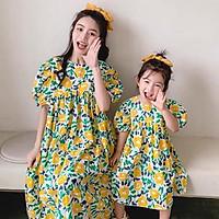 Đồ đôi cho mẹ và bé hoa vàng B-A-M STORE