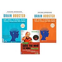 Combo Sách Brain Booster - Nghe - Phản Xạ Tiếng Anh Nhờ Công Nghệ Sóng Não(Tặng kèm bút chì Kingbooks)