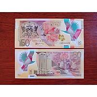 1 Tờ 50 Dollar của đất nước Trinida and Tobago bằng polymer , được bình chọn đẹp nhất thế giới, mới 100% - tặng kèm bao lì xì