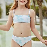2021 Bikini Áo Dễ Thương Đẩy Lên Đồ Bơi Quần Lót Vụ Nổ Đi Biển Bơi Brasil Cho Bé Gái