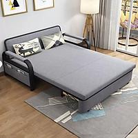Giường Ngủ Kiêm Ghế Sofa Kèm Ngăn Chứa Đồ Đa Năng - Giường Sofa Gấp Gọn Khung Thép Cường Lực Cao Cấp Giường Sofa Đa Năng Gấp Gọn Thành Ghi, KT 1M3*1M9,