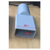 Ống hút bụi chuyển đổi ống vuông thành tròn - ống nối hút bụi Tròn 32mm sang đầu chữ nhật 35 -20 mm