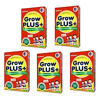 BỘ 5 HỘP SỮA NUTIFOOD GROW PLUS ĐỎ DÀNH CHO TRẺ BỊ SUY DINH DƯỠNG THẤP CÒI - HỘP GIẤY 400G