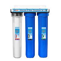 Bộ lọc nước nước cứng (đá vôi) tiêu chuẩn 3 giai đoạn 20 inch - Hàng chính hãng
