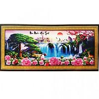 Tranh Thêu Non Nước Hữu Tình (152 x 65 cm)