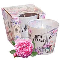 Ly nến thơm tinh dầu Bartek Bon Voyage 115g QT1643 - oải hương, hoa hồng (giao mẫu ngẫu nhiên)