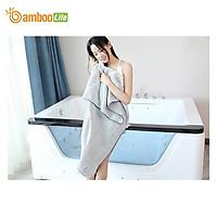 Khăn tắm Bamboo Life BL058 hàng chính hãng được làm từ sợi tre thiên nhiên mềm mại kháng khuẩn siêu thấm hút an toàn cho da